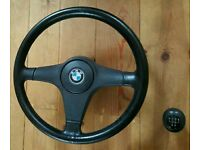 bmw E30 steering wheel and gearknob