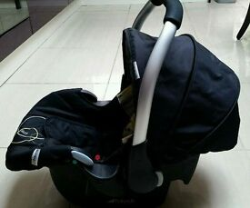 Baby carseat + carrier cut + umbrella