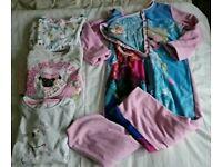 Girls age size 6-7 pyjama bundle
