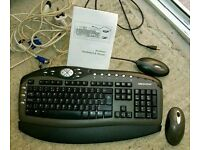 Medion wireless keyboard and mouse used but good condition. Mountsandel Coleraine