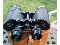 Leather Cased Quality Antique EIKOW 7x50 Binoculars