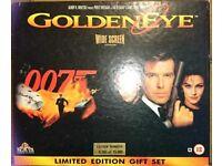 James Bond Goldeneye limited edition Parker pen, cd,magazine and video set