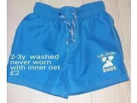 Boys 2-3 years NEW swim shorts