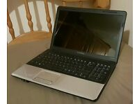 Compaq cq60 laptop, windows 7, webcam, wifi, 250gb hdd, dual core, HDMI, Office pre installed