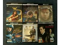 Selection of 4k blu rays for sale