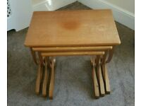 NATHAN NEST OF THREE TEAK TABLES