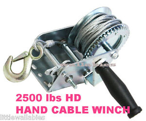 Heavy-Duty-2500LB-Boat-Hand-Winch-Hand-Crank-Manual-RV-Trailer-Winch-AUTO-MARIN