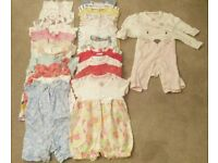 Baby Girl 0-3 & 3-6 & 6-9 Months Jumpsuits (long & short sleeve)