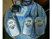 3x Two way radios. 2 way radios x3 with chargers