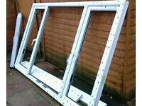 White pvc large new window frame