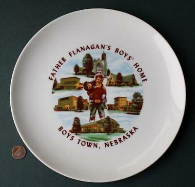 1960-70s Era Nebraska Father Flanagan's Boys' Town Home for Wayward Youth Plate!