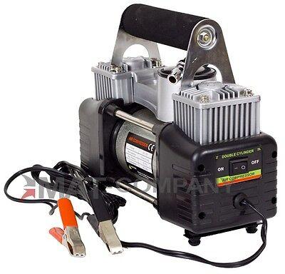 2 Zylinder Hochleistungs 12Volt Luft Kompressor Autoreifen + Freizeit
