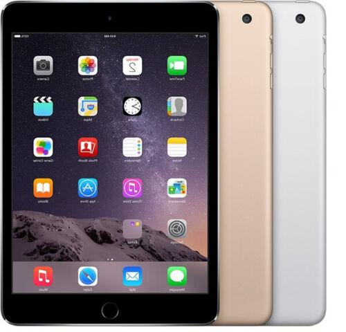 Apple iPad Mini 3 WiFi 7.9in | 16GB 64GB 128GB | Gold Silver Space Gray
