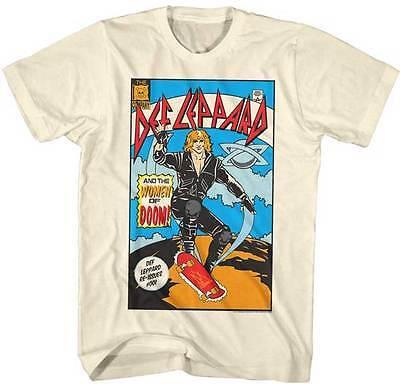 DEF LEPPARD Comic Book Cover Hysteria Women Of Doom T-Shirt S-2XL
