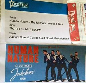 2 x Human Nature tickets Jupiters Casino Gold Coast + CD Burleigh Heads Gold Coast South Preview