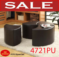 Model 4721PU, ottoman, bench, coffee table.