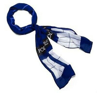 New DR. WHO TARDIS Lightweight Scarf Halloween Costume Theater Blue - Tardis Halloween Costume
