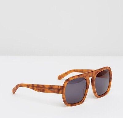 Karen Walker Gion Sunglasses   Aviator Acetate Frame Treacle Tortoise $350 RRP