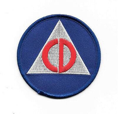 Fallout Video Game Civil Defense CD Logo Embroidered Patch, NEW UNUSED - Civilizations Game
