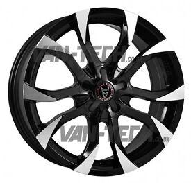 Wolfrace Assassin 18″ Black / Polished Alloy Wheels VW T5 T5.1 T6