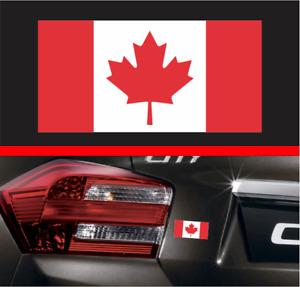 Canadian Flag Bumper Sticker Vinyl Decal Canada Mustang F150 RAM