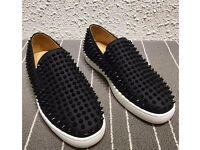 New christian louboutin black Swarovski sneaker,No Yeezy