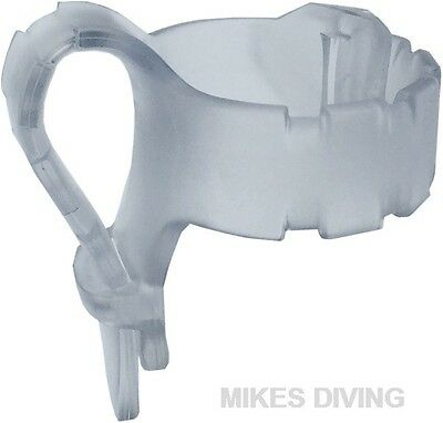 Seac Adjustable Clear Snorkel clip keeper holder for attaching to a diving mask