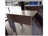 Table , stackable table, rectangular table, multi purpose use table.