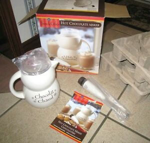 Brand New French Cafe Hot Chocolate Maker, Ceramic Pot Automatic