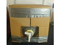 2 x 20L (5 gallon) plastic wine carton dispensers with box