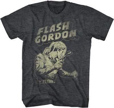 Flash Gordon Holding Pistol Adult T Shirt Great Classic Movie - Adult Movies Cheap