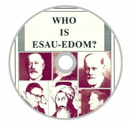 Who is Esau-Edom? By Charles Weisman Book on a CD-DISK BOOK FREE SHIPPING