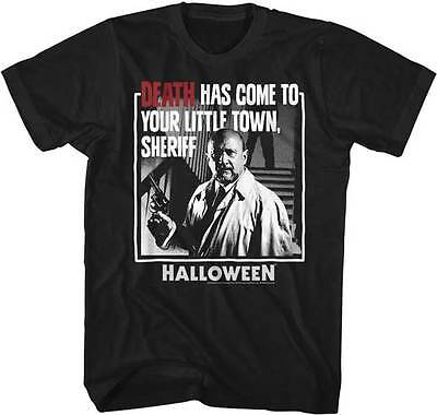 Halloween Death Has Come To Your Little Town Adult T Shirt Great Classic Movie - Halloween Movie Deaths