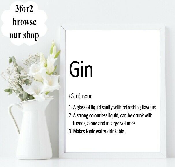 Wall Quote A4 print Kitchen Alcohol Definition Funny Happy Home Gift *3FOR2*
