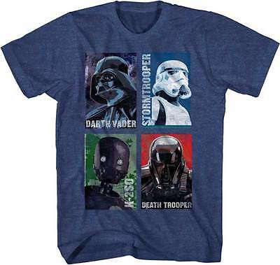 Authentic Star Wars Rogue One Best Crew Heather Glow poster T-shirt