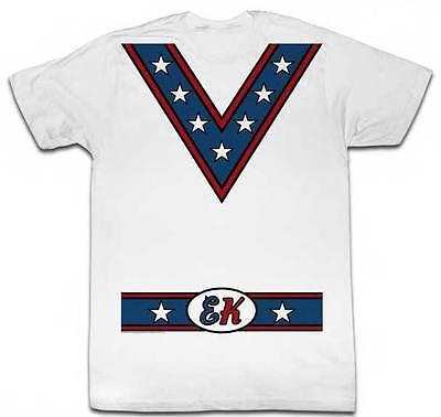 Evel Knievel Motorrad Daredevil Kostüm Style #2 Erwachsene T-Shirt (Dare Devil Erwachsenen Kostüme)