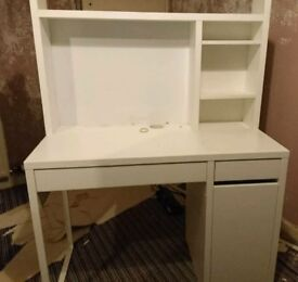 Computer Desk with Shelving.