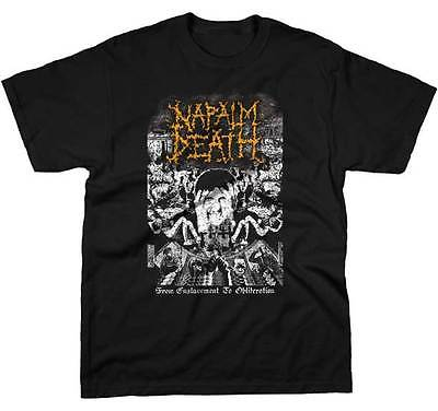 NAPALM DEATH - From Enslavement To Obliteration - T SHIRT S-M-L-XL-2XL New