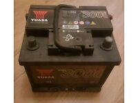 Car battery yuasa YBX060 44ah 425cca ford fiesta