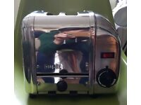 Dualit Chrome 2 Slot Wide Toaster Used but in good condition