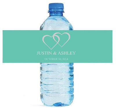100 Modern Mint Water Bottle Labels Personalized Wedding Party Glossy Waterproof](Personalized Wedding Mints)