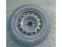 Citroen c3 spare wheel (steel wheel) with Bridgestone Tyre good condition