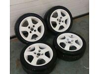 """Rare Oz Polaris 15"""" 4x108 alloy wheels + tyres! Ford Citreon Peugeot"""
