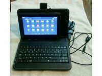 "7"" chimp android tablet keyboard leather case 4.4.2 8gb wifi hdmi"