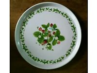 Portmeirion Summer Strawberry Pizza/Cake Plate