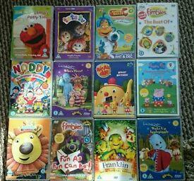 Children's kids dvds - iggle piggle/Dora/ Peppa pig