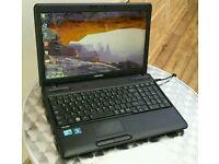 Toshiba C660 Laptop Fast i3 intel, 6gb RAM, 250gb, Webcam, Wifi