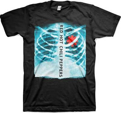 RED HOT CHILI PEPPERS T-Shirt X Ray Asterisk Heart New Authentic S-2XL (Heart X-ray)