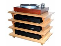 IsoBlue 4 Shelf Hi-Fi Support Table, Ash, 60 Series, BARGAIN