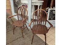 Lovely pair of vintage carver chairs